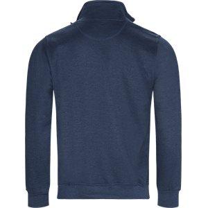 Half Zip Sweatshirt Regular   Half Zip Sweatshirt   Denim